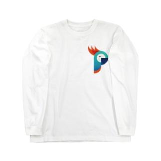 ロゴっぽいオウム Long sleeve T-shirts