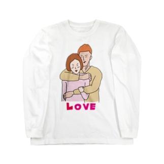 大胸筋LOVE Long sleeve T-shirts