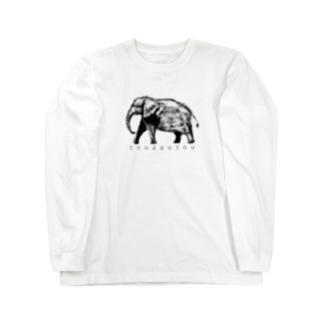 ぞう Long sleeve T-shirts