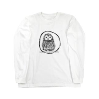 ふくろう Long sleeve T-shirts