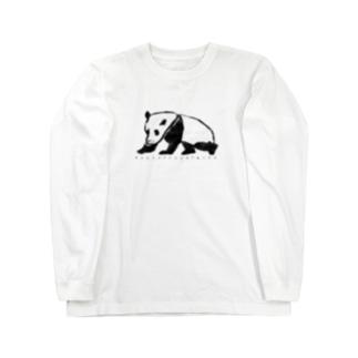 ぱんだ Long sleeve T-shirts