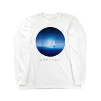 海王星イメージ Long sleeve T-shirts