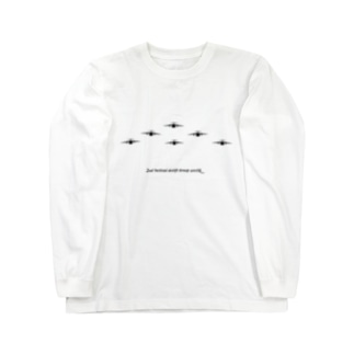 C-1輸送機編隊-Bk Long sleeve T-shirts