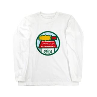 パ紋No.3114 ebi Long sleeve T-shirts
