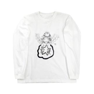 輝く星と天使 Long sleeve T-shirts