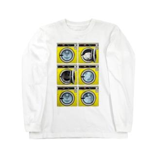 コインランドリー Coin laundry【2×3】 Long sleeve T-shirts