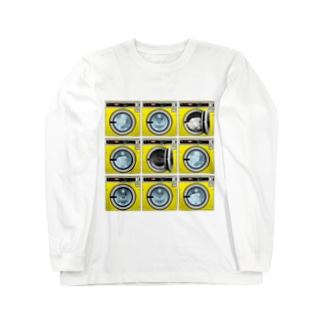 コインランドリー Coin laundry【3×3】 Long sleeve T-shirts
