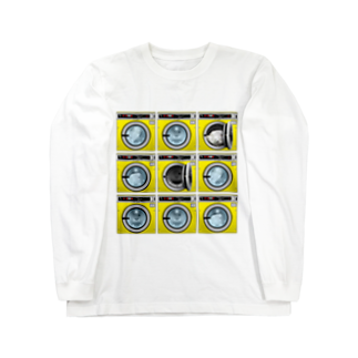 TOMOKUNIのコインランドリー Coin laundry【3×3】 Long sleeve T-shirts