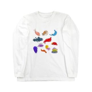 古代生物大集合 Long sleeve T-shirts