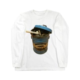 ゴミ箱灰皿 Long sleeve T-shirts