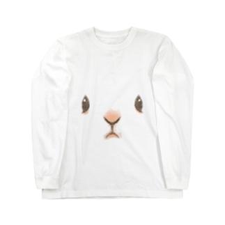 うさがお Long sleeve T-shirts