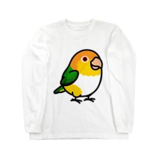 Chubby Bird シロハラインコ Long sleeve T-shirts