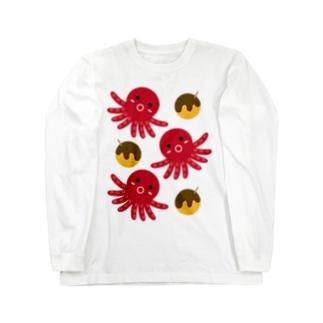 タコ&たこ焼き Long sleeve T-shirts