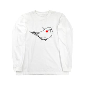 ツートーンオカメインコ Long sleeve T-shirts