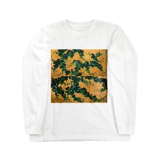 鈴木其一『朝顔図屏風』 Long sleeve T-shirts