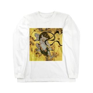 俵屋宗達『風神雷神』の雷神 Long sleeve T-shirts