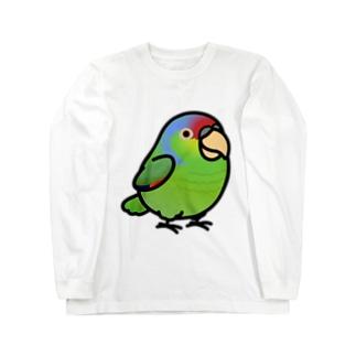 Chubby Bird  フジイロボウシインコ Long sleeve T-shirts