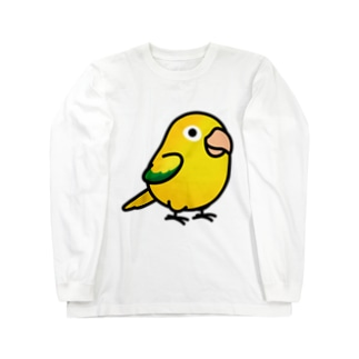 Chubby Bird ニョオウインコ Long sleeve T-shirts