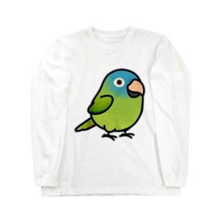 Chubby Bird トガリオインコ Long sleeve T-shirts