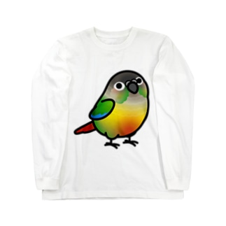 Chubby Bird ウロコインコ Long sleeve T-shirts