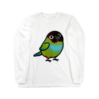 Chubby Bird クロガミインコ Long sleeve T-shirts