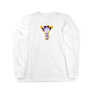 カンムリクマタカ Long sleeve T-shirts