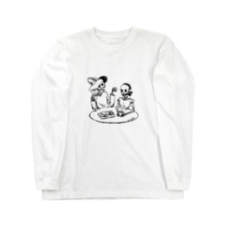 スカル夫婦 Long sleeve T-shirts