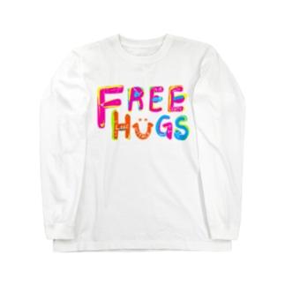 フリーハグ/FREE HUGS Long sleeve T-shirts