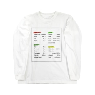 英字デザイン Long sleeve T-shirts