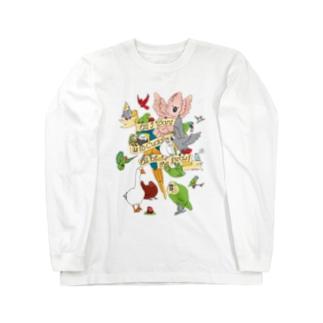 Chubby Bird  「何よりも大切なこと。 それは鳥さんを愛すること。」 Long sleeve T-shirts