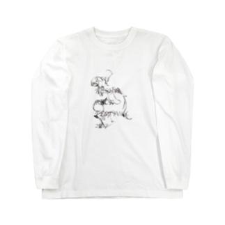 うねり Long sleeve T-shirts