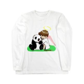 「みな☆の」のパンダちゃん大好き!天使ちゃん Long sleeve T-shirts