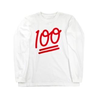 100点満点 Long sleeve T-shirts