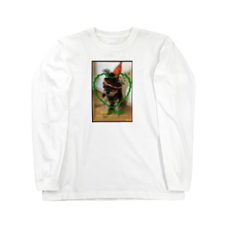 ハロウィンドッグฅ՞•ﻌ•՞ฅワン♥ Long sleeve T-shirts