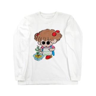 お花のともちゃん Long sleeve T-shirts