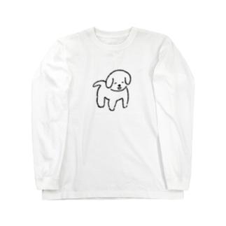 にっこり犬くん Long sleeve T-shirts