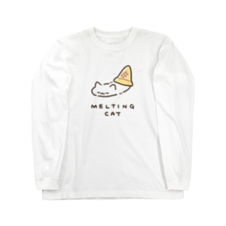 MELTING CAT (フチあり) Long sleeve T-shirts