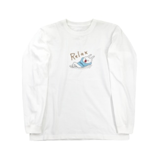 ウサギのウー by NIKUQ WORKSのRelaxなウー Long sleeve T-shirts