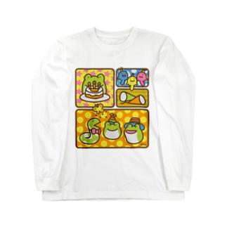 【けこがえる】ぱーてぃー Long sleeve T-shirts