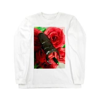 Higurashi430のクワガタ ☆アンタエウス☆縦ver Long sleeve T-shirts