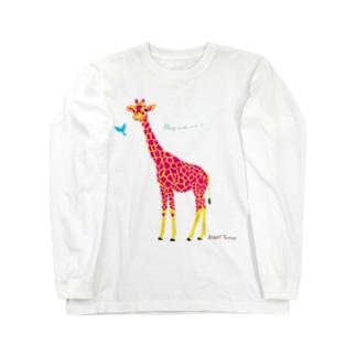 ずっきーファクトリーのなかよしキリン Long sleeve T-shirts