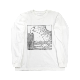 おや?富士が Long sleeve T-shirts
