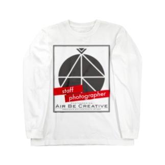 ABC「staff photographer」ロゴ Long sleeve T-shirts