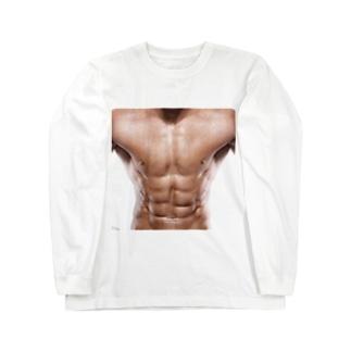マッチョのシックスパック Long sleeve T-shirts