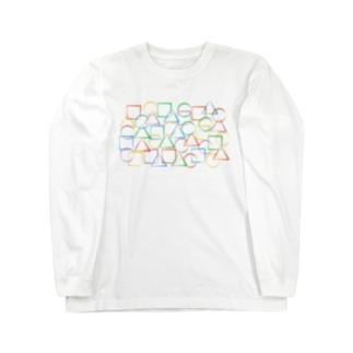 ○△□カラフル Long sleeve T-shirts