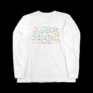 a-noの○△□カラフル Long sleeve T-shirts