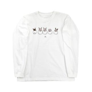 うさ文鳥(A) Long sleeve T-shirts
