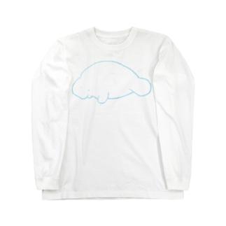 じゅごんくん(そら色) Long sleeve T-shirts
