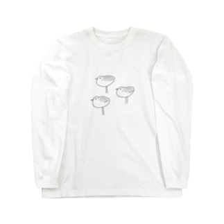 ミユビシギ Long sleeve T-shirts