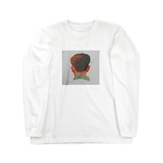 うしろ姿の男の子 Long sleeve T-shirts